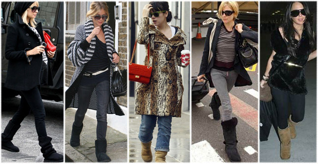 Celebrities-with-their-UGG-boots